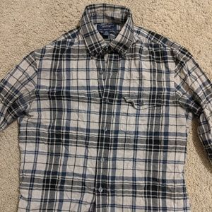 American Eagle Plaid Button up Shirt Size Small